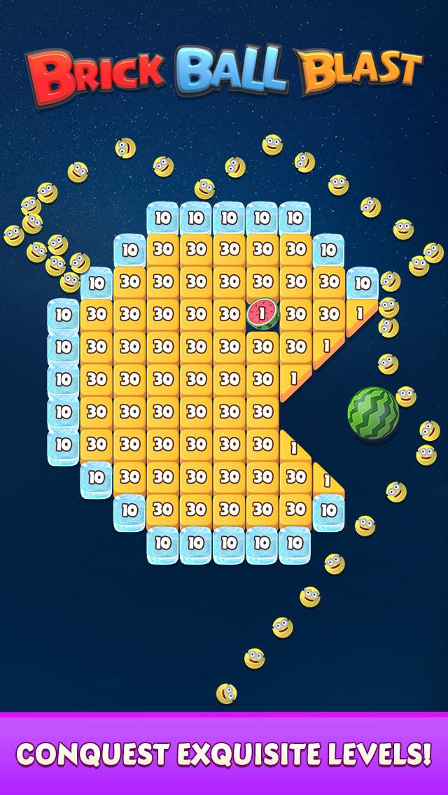 Brick Ball Blast: Free Bricks Ball Crusher Game capture d'écran 1