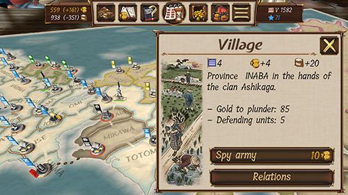 Strategie Shogun's empire: Hex commander für das Smartphone