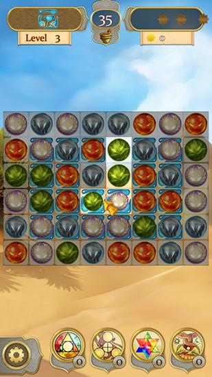 Arcade-Spiele Wizard and genie: Match 3 stars für das Smartphone