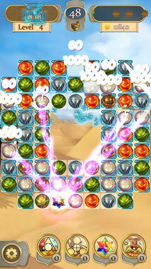Wizard and genie: Match 3 stars für Android