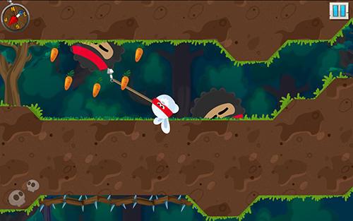 Rabbit samurai: Rope swing hero Screenshot