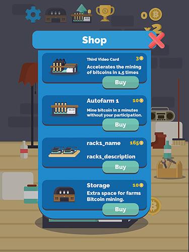 Arcade-Spiele Bitcoin mining für das Smartphone