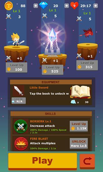 Arcade-Spiele Tap hero: War of clicker für das Smartphone