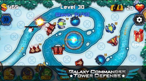 Galaxy commander: Tower defense für Android
