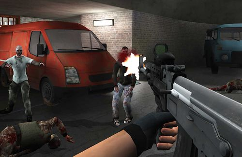 Action games: download Walking dead zombies: The town of advanced assault warfare to your phone