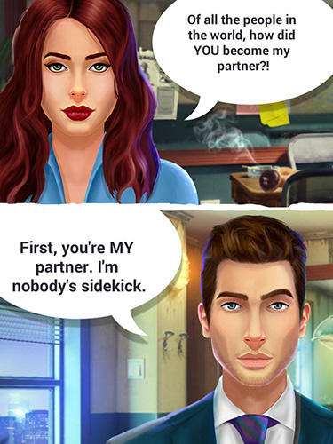 Abenteuer-Spiele Detective love: Story games with choices für das Smartphone