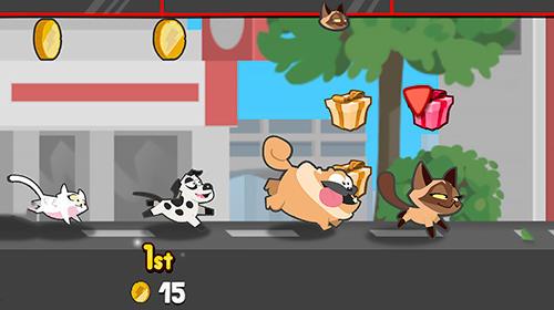 Laufspiele Pets race: Fun multiplayer racing with friends auf Deutsch