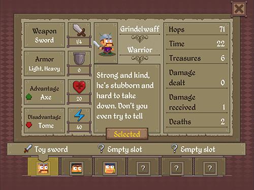 RPG Dungeon park heroes für das Smartphone
