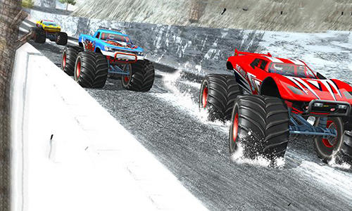 Snow racing: Monster truck 17. Snow truck: Rally racing 3D für Android