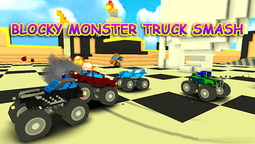 Blocky monster truck smash captura de pantalla 1