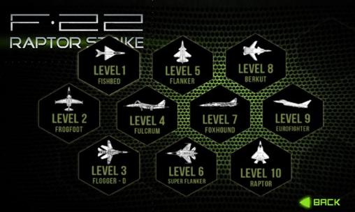 F-22 Raptor strike: Jet fighter für Android