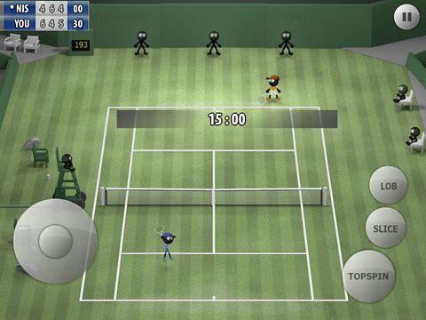 Strichmännchen Tennis 2015 für iPhone