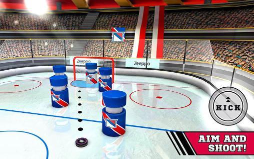 Sport Pin hockey: Ice arena für das Smartphone