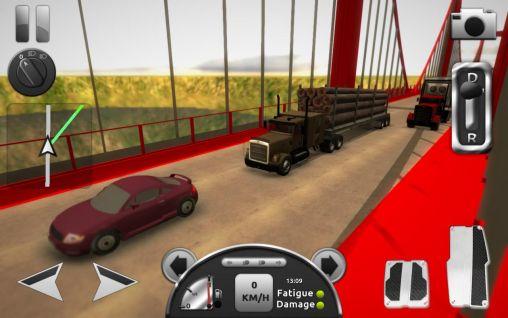 Игры про дальнобойщиков Truck simulator 3D на русском языке