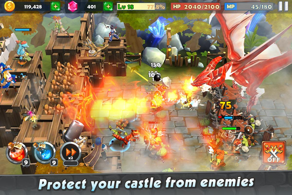 Castle Rush: Hero defender & Idle defense para Android