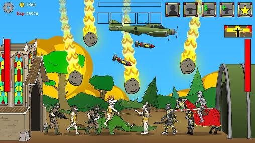 Strategie Age of war by Max games studios für das Smartphone