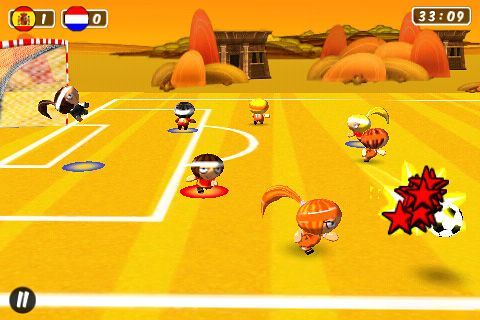 Arcade games: download Chop chop: Soccer to your phone