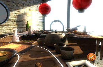 Screenshot Rennen auf dem Tisch auf dem iPhone