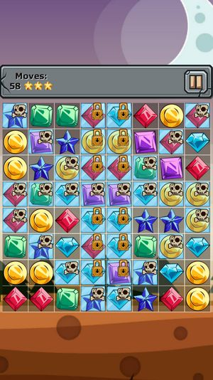 Jewels and elements: Three in a row für Android