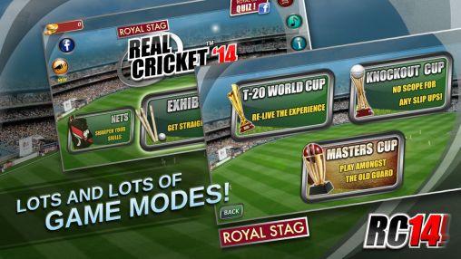 Jogos de esportes Real cricket '14para smartphone