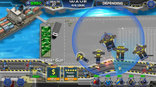 Tower defense: Robot wars auf Deutsch