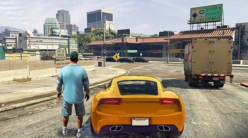 Actionspiele Gangster town auto für das Smartphone