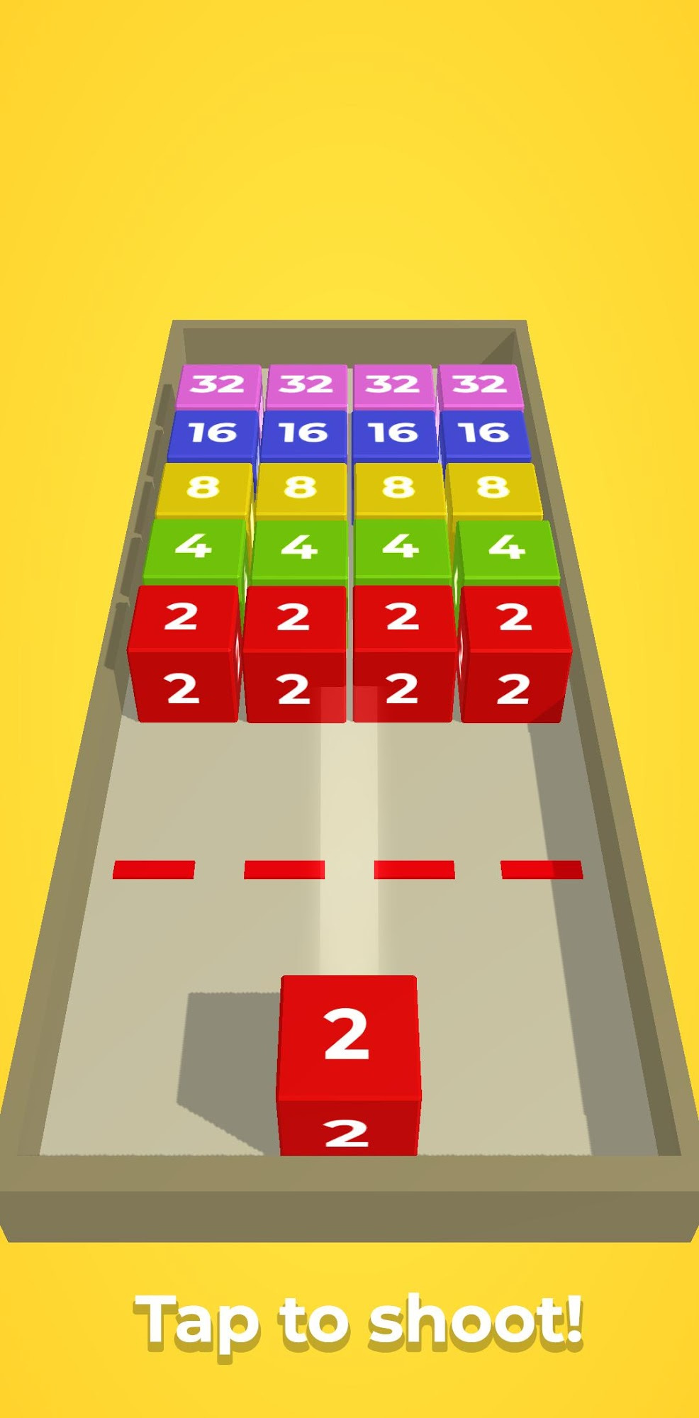 Chain Cube: 2048 3D merge game captura de pantalla 1