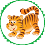 Tigers in cage icono
