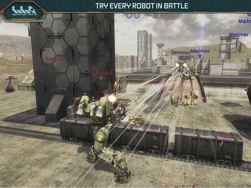Robots de combates en marcha para iPhone