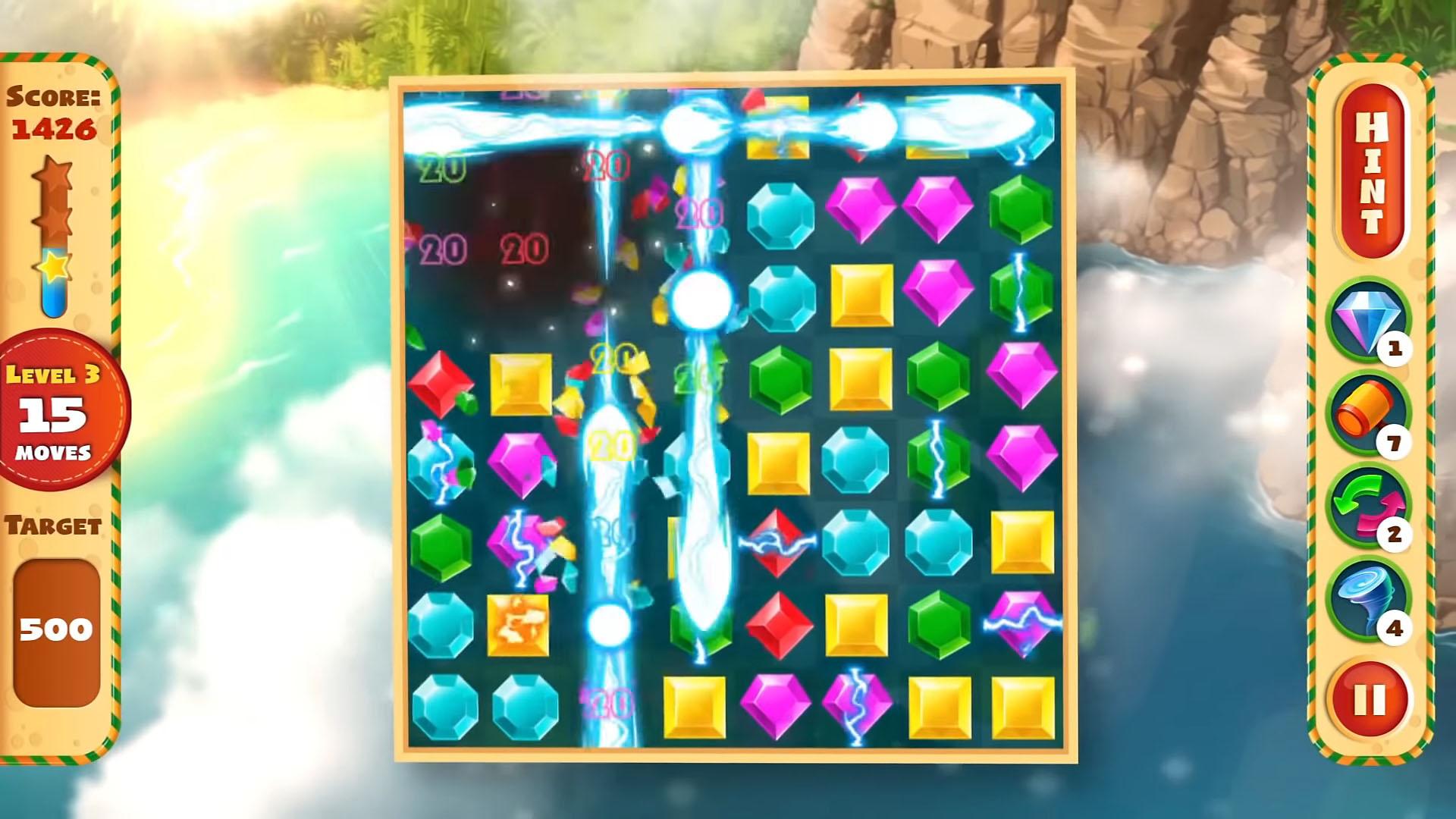 Jewel Empire : Quest & Match 3 Puzzle captura de pantalla 1