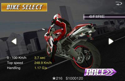 Corridas: faça o download de Raça na motocicletas. Poder completo para o seu telefone