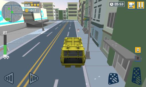 Blocky garbage truck sim pro screenshots