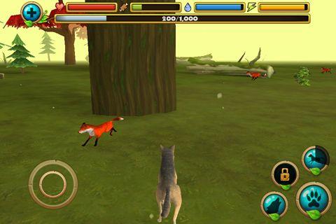 Screenshot Wildleben Simulator: Wolf auf dem iPhone