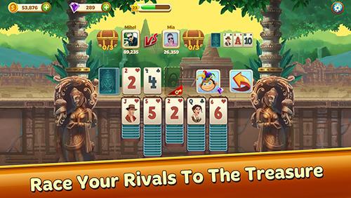 Onlinespiele Solitaire treasure hunt für das Smartphone