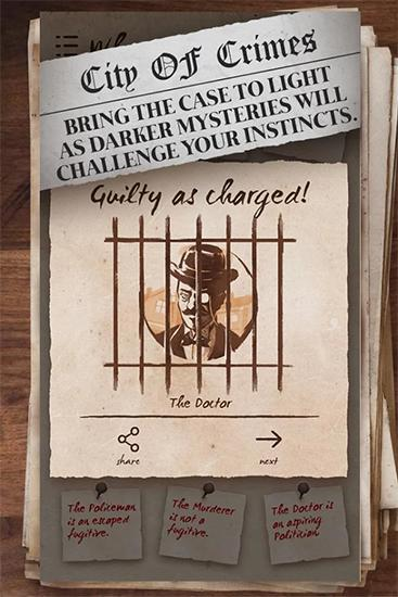 Mystery case files: Crime city screenshot 1