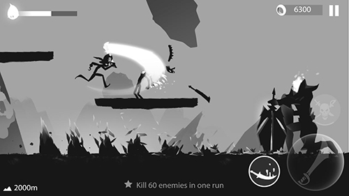 Stickman run: Shadow adventure für Android