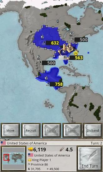 Strategiespiele Age of conquest: World für das Smartphone