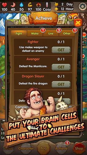 Arcade-Spiele Survival of primitive für das Smartphone