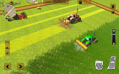 Simulation Real tractor farming sim 2017 für das Smartphone