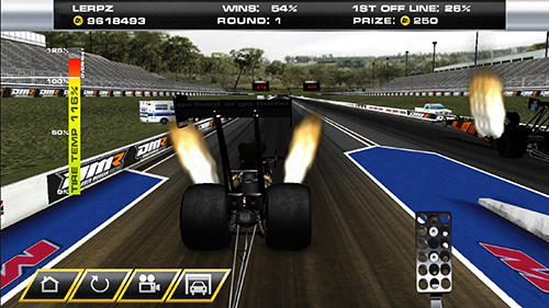 Dragster mayhem: Top fuel drag racing for Android