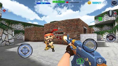 Actionspiele Gun shoot war Q für das Smartphone