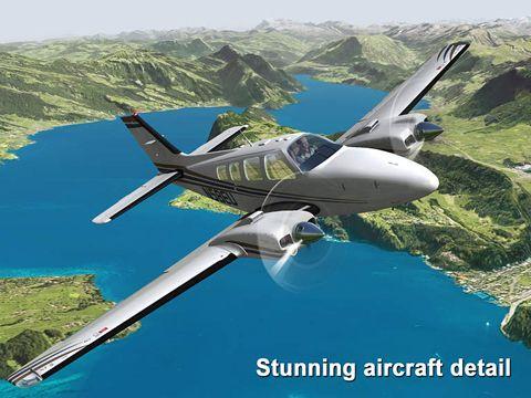 Screenshot Aerofly 2 auf dem iPhone