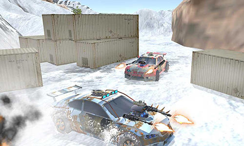Racing games Snow buggy car death race 3D for smartphone