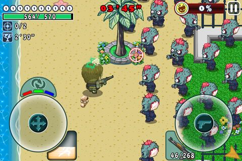 Screenshot Alive forever mini: Zombie party on iPhone