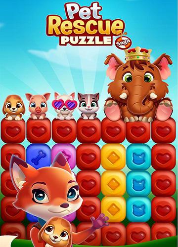 Pet rescue: Puzzle saga captura de tela 1