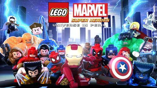 logo Lego Os super heróis Marvel: Universo em perigo