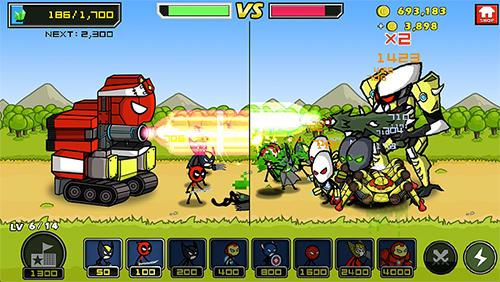 Heroes wars: Super stickman defense screenshot 1