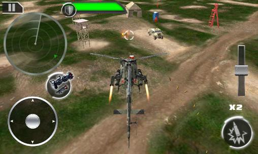 Gunship: Deadly strike. Sandstorm wars 3D screenshot 3