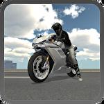 Extreme motorbike racer 3D Symbol