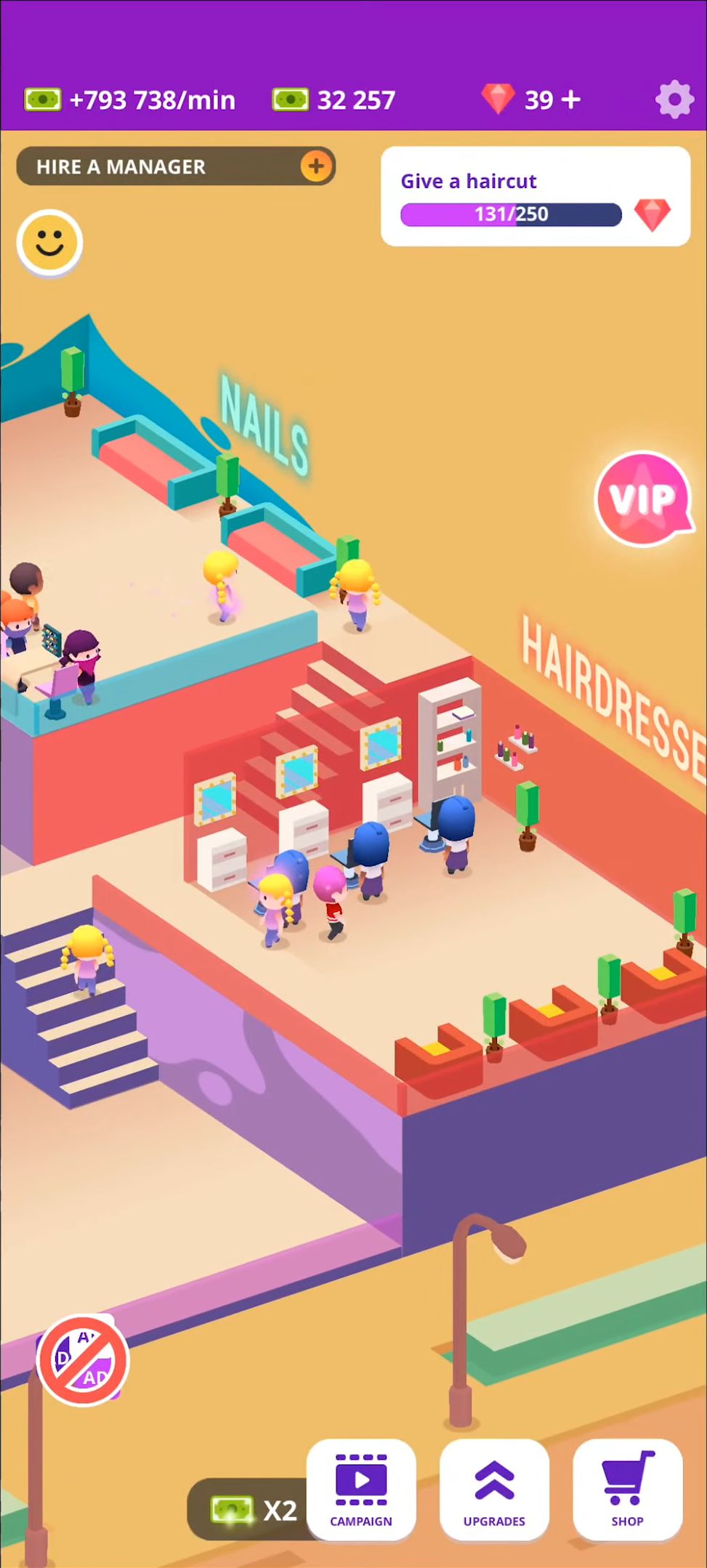 Idle Beauty Salon: Hair and nails parlor simulator für Android